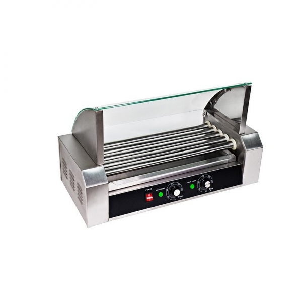 HOT DOG ROLLER GRILL RCHG-5E 5 ΚΥΛΙΝΔΡΟΙ ΜΕ ΚΑΠΑΚΙ