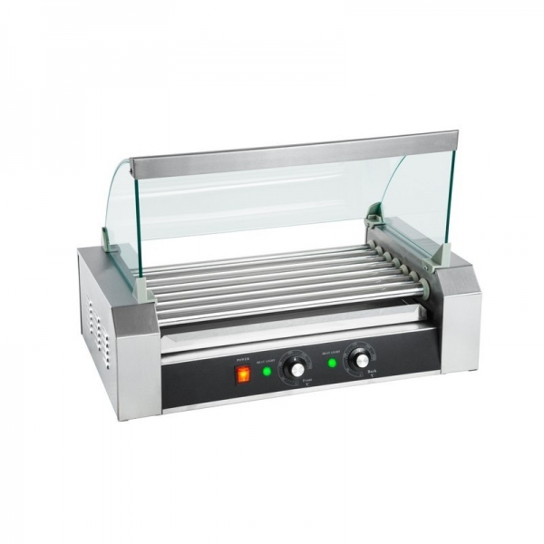 HOT DOG ROLLER GRILL RCHG-7E 7 ΚΥΛΙΝΔΡΟΙ ΜΕ ΚΑΠΑΚΙ