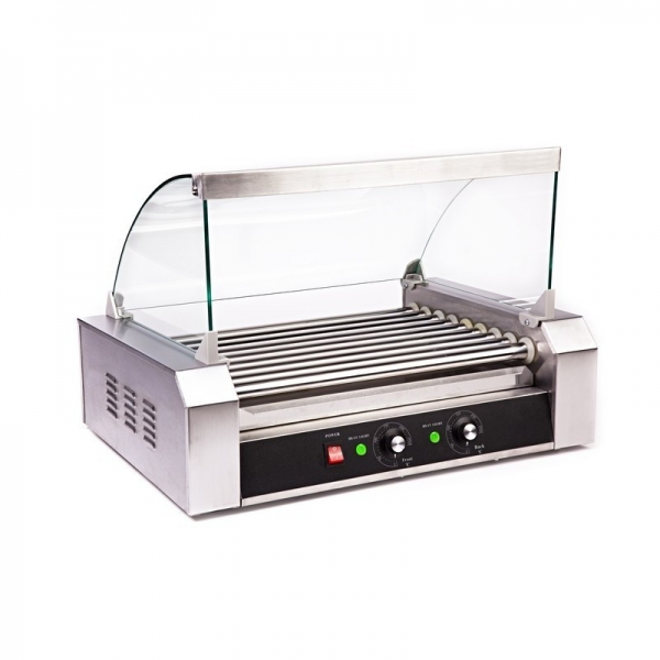 HOT DOG ROLLER GRILL RCHG-9E 9 ΚΥΛΙΝΔΡΟΙ ΜΕ ΚΑΠΑΚΙ
