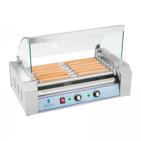 HOT DOG ROLLER GRILL 7 ΚΥΛΙΝΔΡΟΙ ΜΕ ΚΑΠΑΚΙ RCHG-7E  67-01479