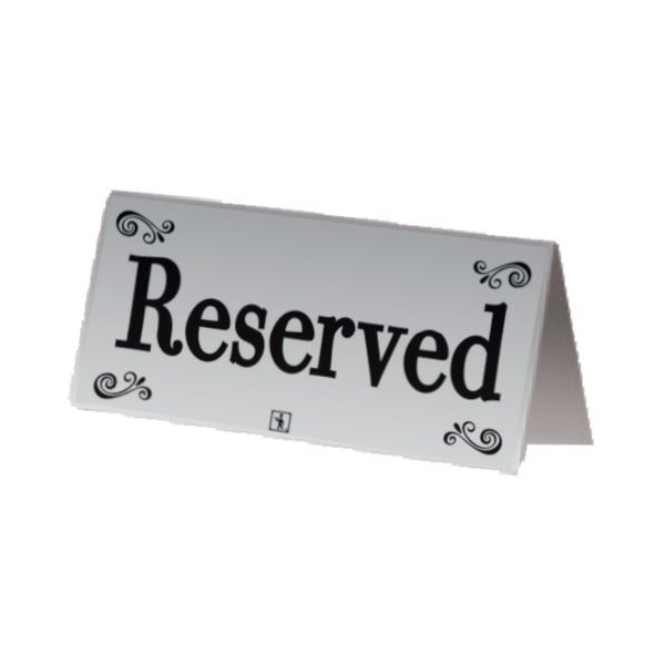 RESERVED PG ΛΑΜΔΑ INOX 12X6CM 02-209