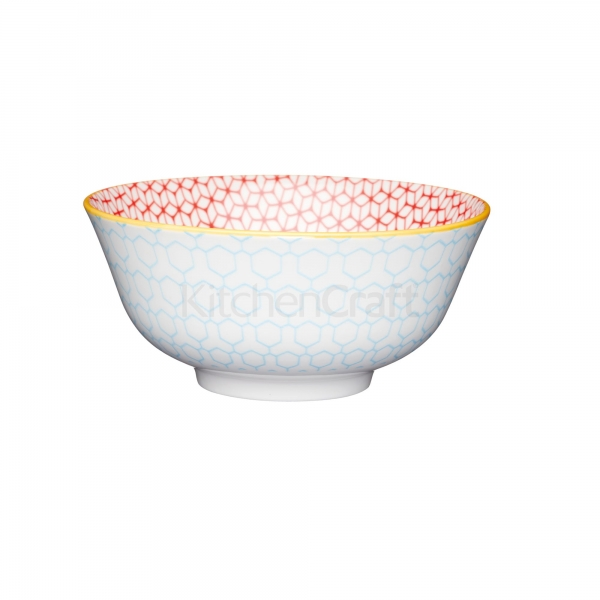 KitchenCraft a bowl in one Geometric blue μπολ 15.5cm/7.5cm