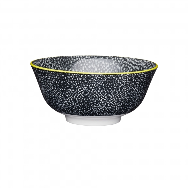 KitchenCraft a bowl in one Black floral μπολ 15.5cm/7.5cm