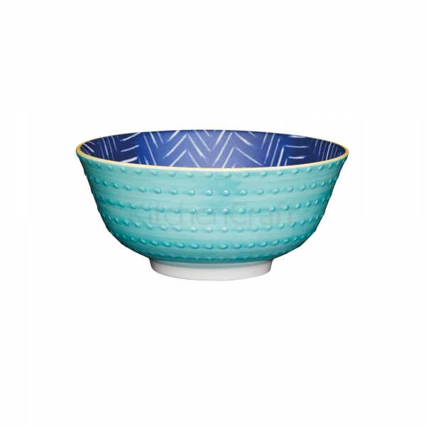 KitchenCraft a bowl in one Leafy indigo μπολ 15.5cm/7.5cm