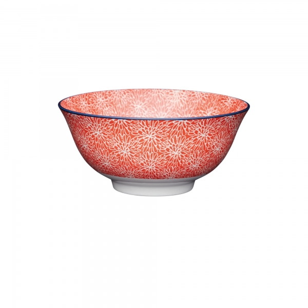 KitchenCraft a bowl in one Red Floral μπολ 15.5cm/7.5cm